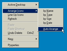Disabling the Auto Arrange feature