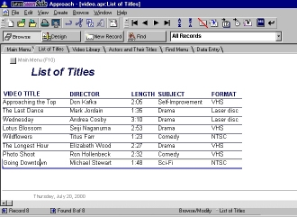 An example of a multi-table database. Click to see a larger image.